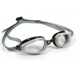 Scuba Diving & Swimming Accessories Thailand - Aqua Sphere K180 Swimming Goggles Clear Lens Silver & Black Frame