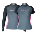 Scuba Diving Rashguards Thailand - Aqua Lung Pink SIlver Female Rashvest