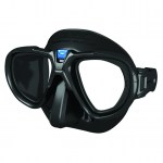 Scuba Diving Masks Thailand - Seac Sub Fox Mask Black Metallic Blue