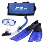 Scuba Diving Equipment Bags Thailand - Deep Blue Mesh Fin Bag